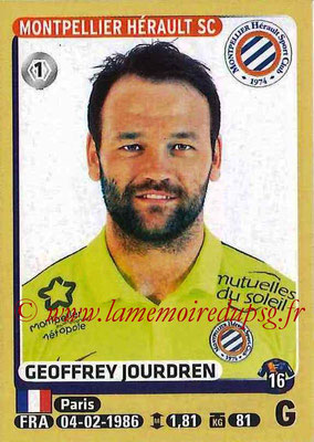 2015-16 - Panini Ligue 1 Stickers - N° 266 - Goeffrey JOURDREN (Montpellier Hérault SC)