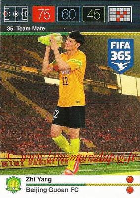 2015-16 - Panini Adrenalyn XL FIFA 365 - N° 035 - Zhi YANG (Beijing Guoan FC) (Team Mate)