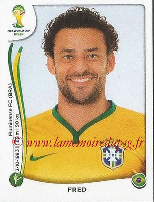 2014 - Panini FIFA World Cup Brazil Stickers - N° 050 - FRED (Brésil)