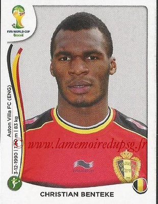 2014 - Panini FIFA World Cup Brazil Stickers - N° 582 - Christian BENTEKE (Belgique)