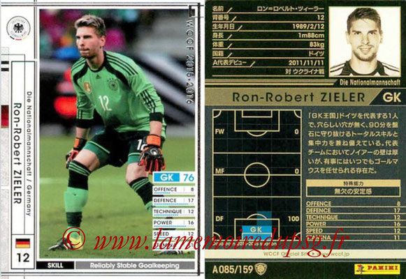 2015-16 - Panini WCCF - N° A085 - Ron-Robert ZIELER (Allemagne)
