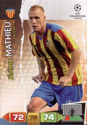 2011-12 - Panini Champions League Cards - N° 251 - Jérémy MATHIEU (FC Valence)