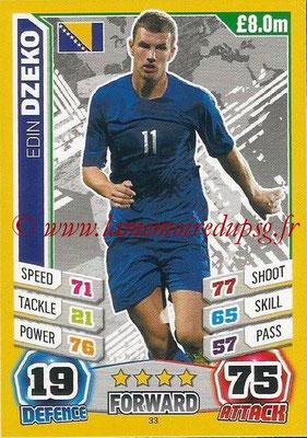 Topps Match Attax England 2014 - N° 033 - Edin DZEKO (Bosnie Herzégovine)