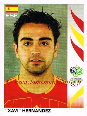 2006 - Panini FIFA World Cup Germany Stickers - N° 542 - Xavi HERNANDEZ (Espagne)