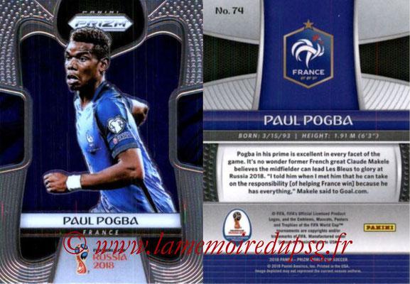 2018 - Panini Prizm FIFA World Cup Russia - N° 074 - Paul POGBA (France)