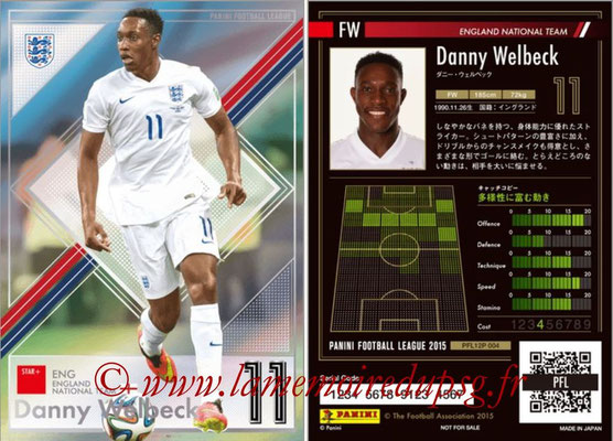 Panini Football League 2015 - PFL12P - N° 004 - Danny Welbeck (Angleterre) (Star +)