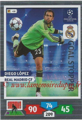 2013-14 - Adrenalyn XL champions League N° 332 - Diego LOPEZ (Real Madrid CF) (Goal Stopper)