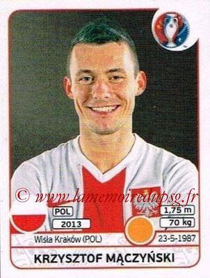 Panini Euro 2016 Stickers - N° 305 - Krzysztuf MACZYNSKI (Pologne)