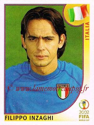 2002 - Panini FIFA World Cup Stickers - N° 472 - Filippo INZAGHI (Italie)