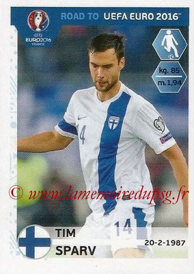 Panini Road to Euro 2016 Stickers - N° 329 - Tim SPARV (Finlande)