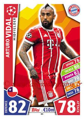 2017-18 - Topps UEFA Champions League Match Attax - N° 065 - Arturo VIDAL (FC Bayern Munich)