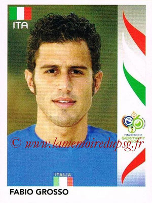 2006 - Panini FIFA World Cup Germany Stickers - N° 328 - Fabio GROSSO (Italie)