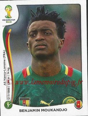 2014 - Panini FIFA World Cup Brazil Stickers - N° 105 - Benjamin MOUKANDJO (Cameroun)