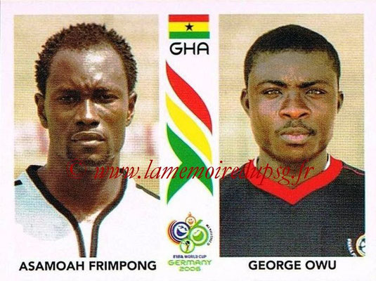 2006 - Panini FIFA World Cup Germany Stickers - N° 320 - Asamoah FRIMPONG + George OWU (Ghana)
