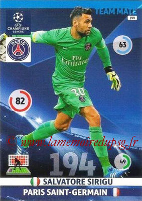 2014-15 - Adrenalyn XL champions League N° 199 - Salvatore SIRIGU (Paris Saint-Germain)
