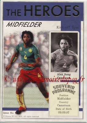 2013 - Futera World Football Unique - N° HER22 - Alex SONG (Cameroun) (Midfielder) (The Heroes)