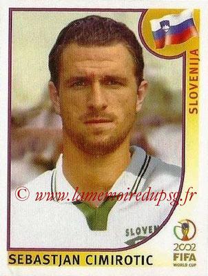 2002 - Panini FIFA World Cup Stickers - N° 132 - Sebastjan CIMIROTIC (Slovénie)