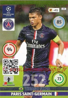 2014-15 - Adrenalyn XL champions League N° 273 - Thiago SILVA (Paris Saint-Germain) (Fans Favourite)