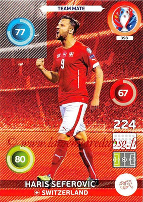 Panini Euro 2016 Cards - N° 398 - Haris SEFEROVIC (Suisse)
