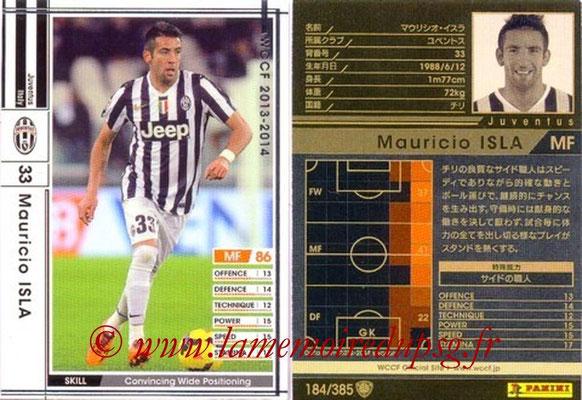 2013-14 - WCCF - N° 184 - Mauricio ISLA (Juventus FC)