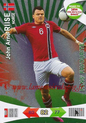 2014 - Panini Road to FIFA World Cup Brazil Adrenalyn XL - N° 202 - John Arne RIISE (Norvège) (Fan's Favourite)