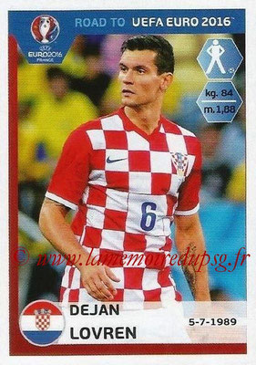 Panini Road to Euro 2016 Stickers - N° 132 - Devan LOVREN (Croatie)