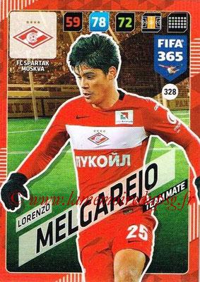 2017-18 - Panini FIFA 365 Cards - N° 328 - Lorenzo MELGAREJO (Spartak Moscou)