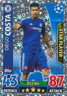 2015-16 - Topps UEFA Champions League Match Attax - N° 143 - Diego COSTA (Chelsea FC) (Star Player)