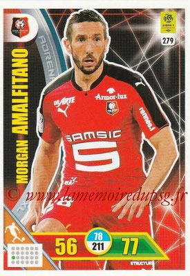 2017-18 - Panini Adrenalyn XL Ligue 1 - N° 279 - Morgan AMALFITANO (Rennes)