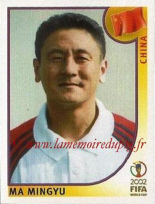 2002 - Panini FIFA World Cup Stickers - N° 218 - Ma MINGYU (Chine)
