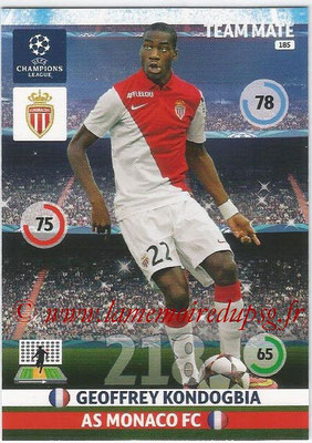 2014-15 - Adrenalyn XL champions League N° 185 - Geoffrey KONDOGBIA (AS Monaco)