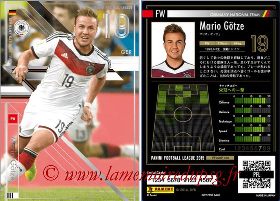 Panini Football League 2015 - PFL09P - N° 012 - Mario GÖTZE (Allemagne) (Star)