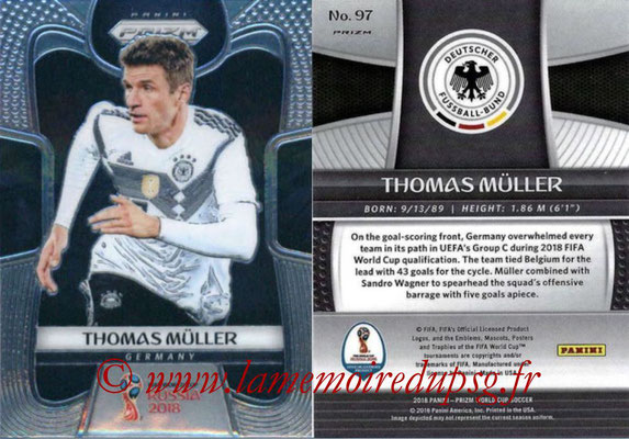 2018 - Panini Prizm FIFA World Cup Russia - N° 097 - Thomas MÜLLER (Allemagne)