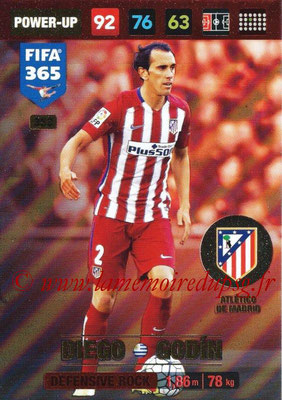 2016-17 - Panini Adrenalyn XL FIFA 365 - N° 353 - Diego GODIN (Atletico de Madrid) (Defensive Rock)