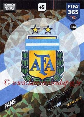 2017-18 - Panini FIFA 365 Cards - N° 334 - Logo Argentine (Team Logo)