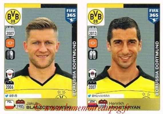 2015-16 - Panini FIFA 365 Stickers - N° 513-514 - Jakub BLASZCZYKOWSKI + Henrikh MKHITARYA (Borussia Dortmund)
