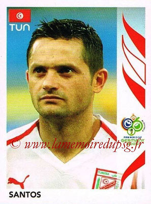 2006 - Panini FIFA World Cup Germany Stickers - N° 586 - SANTOS (Tunisie)