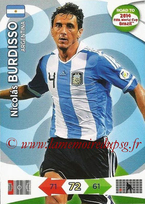 2014 - Panini Road to FIFA World Cup Brazil Adrenalyn XL - N° 004 - Nicolas BURDISO (Argentine)