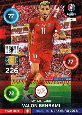 Panini Road to Euro 2016 Cards - N° 230 - Valon BEHRAMI (Suisse)