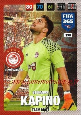 2016-17 - Panini Adrenalyn XL FIFA 365 - N° 190 - Stefanos KAPINO (Olympiacos FC)