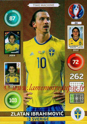Panini Euro 2016 Cards - N° 024 - Zlatan IBRAHIMOVIC (Suède) (Time Machine)