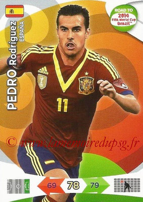 2014 - Panini Road to FIFA World Cup Brazil Adrenalyn XL - N° 087 - Pedro RODRIGUEZ (Espagne)