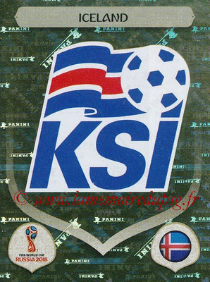 2018 - Panini FIFA World Cup Russia Stickers - N° 292 - Ecusson Islande