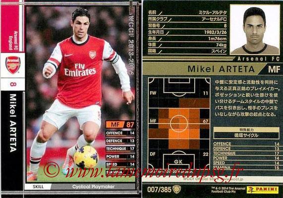 N° 007 - Mikel ARTETA (Janv 2001-02, PSG > 2013-14, Arsenal, ANG)