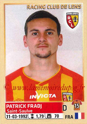 2014-15 - Panini Ligue 1 Stickers - N° 129 - Patrick FRADJ (RC Lens)