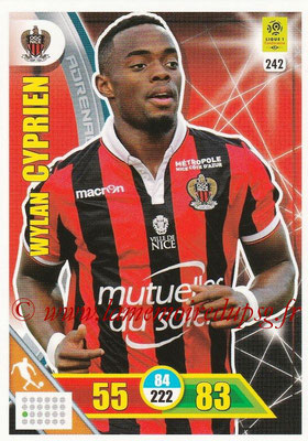 2017-18 - Panini Adrenalyn XL Ligue 1 - N° 242 - Wylan CYPRIEN (Nice)