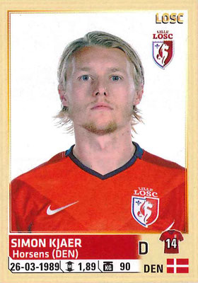 2014-15 - Panini Ligue 1 Stickers - N° 152 - Simon KJAER (Lille OSC)