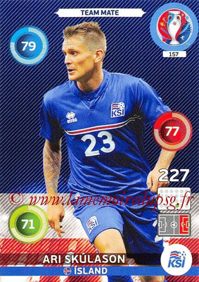 Panini Euro 2016 Cards - N° 157 - Ari SKULASON (Islande)