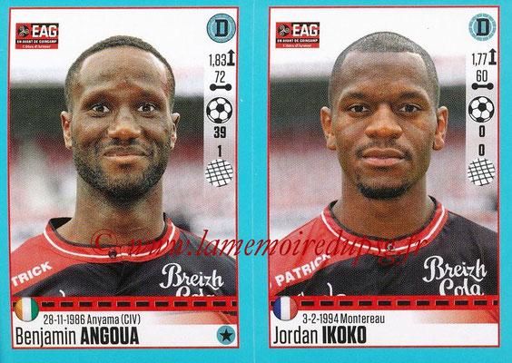 2016-17 - Panini Ligue 1 Stickers - N° 232 + 233 - Benjamin ANGOUA + Jordan IKOKO (Guingamp)
