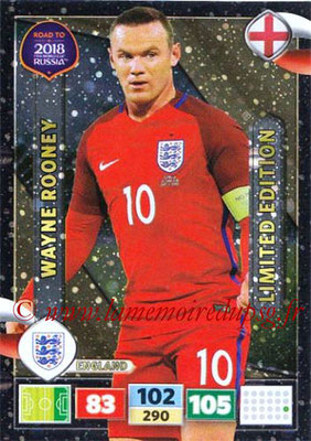 2018 - Panini Road to FIFA World Cup Russia Adrenalyn XL - N° LE-WR - Wayne ROONEY (Angleterre) (Limited Edition)